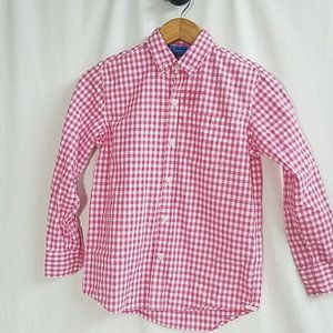 Gap Long-sleeved button up checkered boys shirt